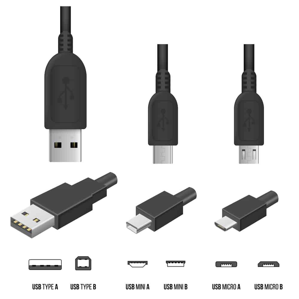 types de connecteurs USB